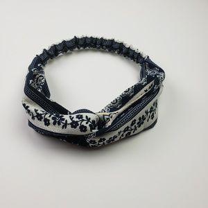 Wide Blue Boho Headband